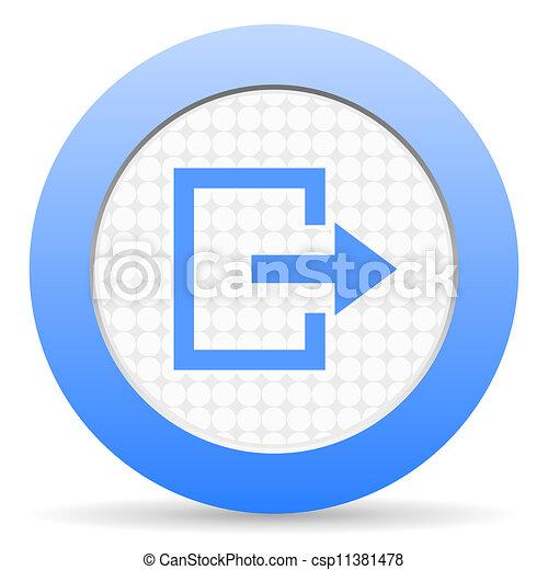 exit icon - csp11381478