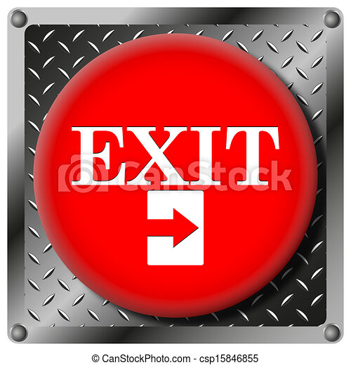 Exit metallic icon - csp15846855