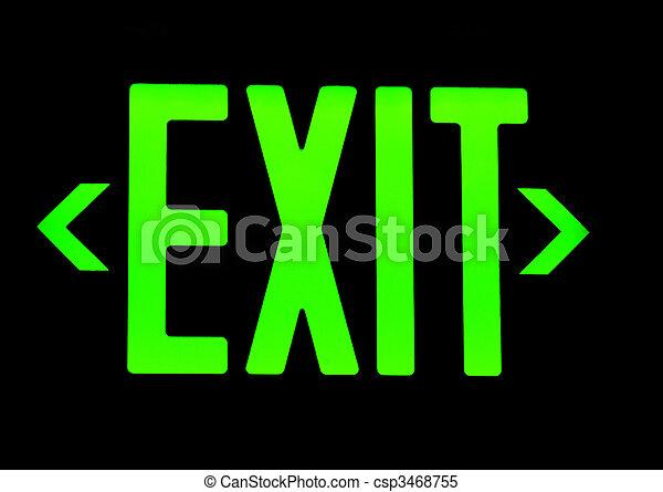 Exit neon sign - csp3468755