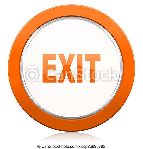 exit orange icon  - csp25895792