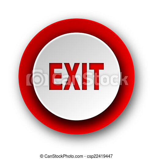 exit red modern web icon on white background - csp22419447