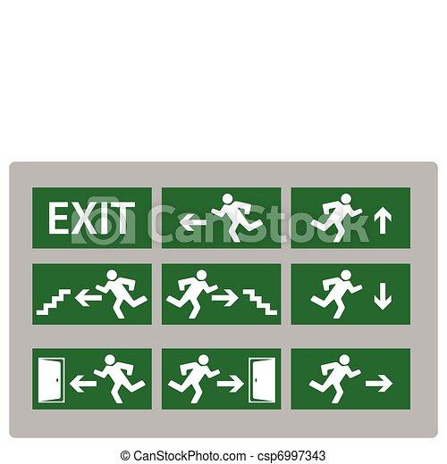 Exit sign - csp6997343