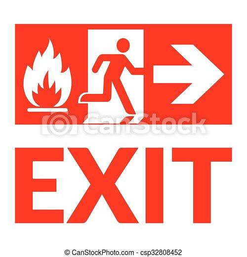 Exit Sign Fire Exit Sign Emergency Fire Exit Door And Exit Door