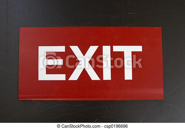 Exit Sign - csp0196696