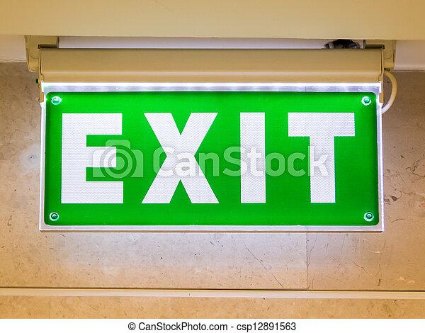 Exit Sign - csp12891563