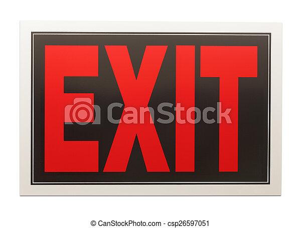 Exit Sign - csp26597051