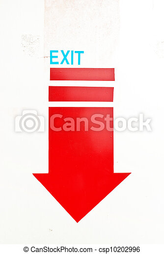 exit sign - csp10202996