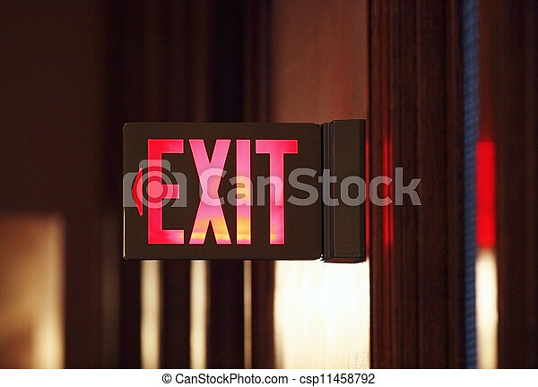 Exit Sign - csp11458792