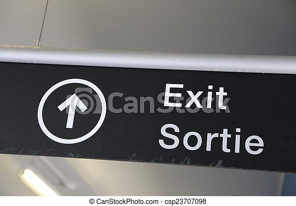 Exit sign  - csp23707098
