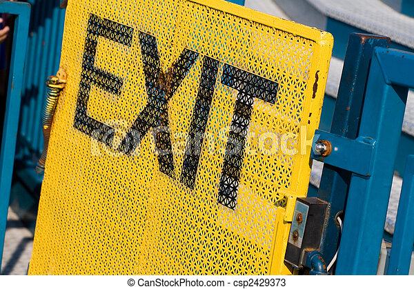 Exit Sign - csp2429373