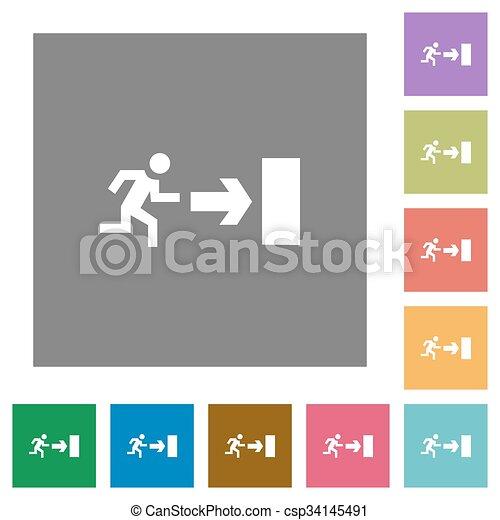 Exit square flat icons - csp34145491