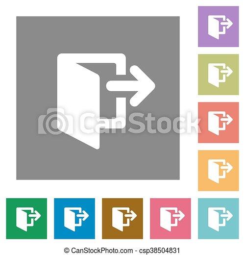 Exit square flat icons - csp38504831