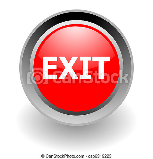 exit steel glosssy icon - csp6319223