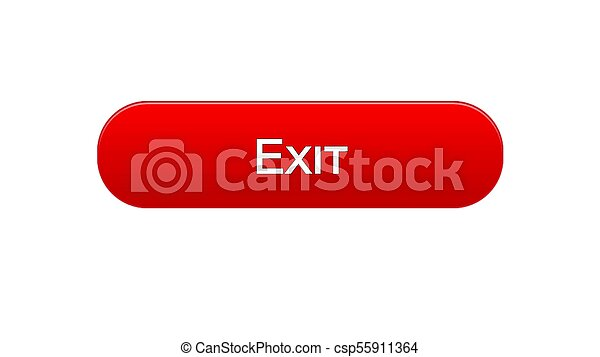 Exit Web Interface Button Red Color Application Log Out Internet