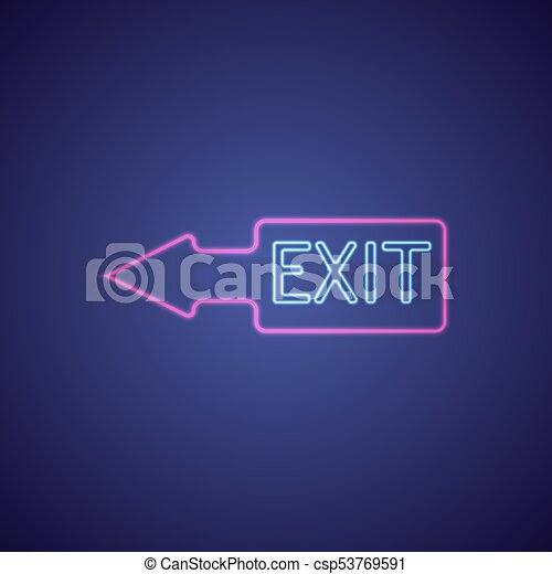 Exit with neon light exit on night club bar neon sign vector exit with neon light exit on night club bar neon sign vector illustration aloadofball Images