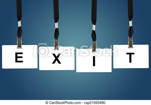 exit word - csp21093490