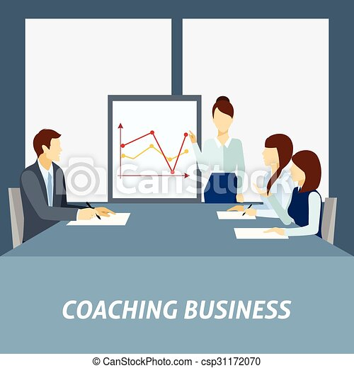 Un póster de entrenador de negocios exitoso - csp31172070