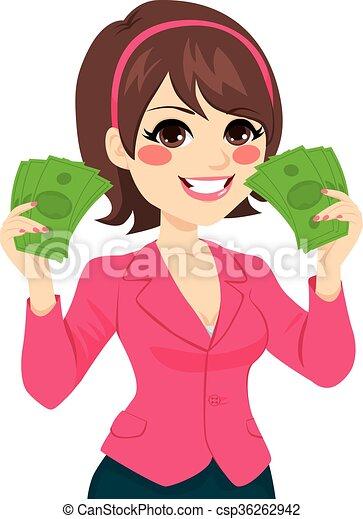 Fanática de Bill Money exitosa empresaria - csp36262942