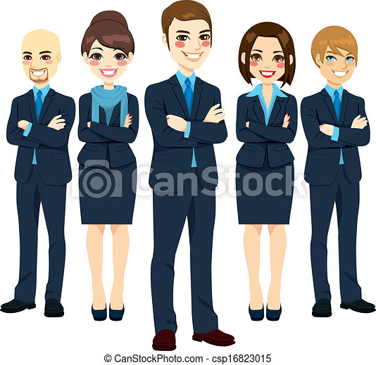 exitoso, equipo negocio - csp16823015