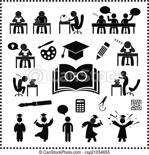 Simbolo de estudio exitoso - csp21034655