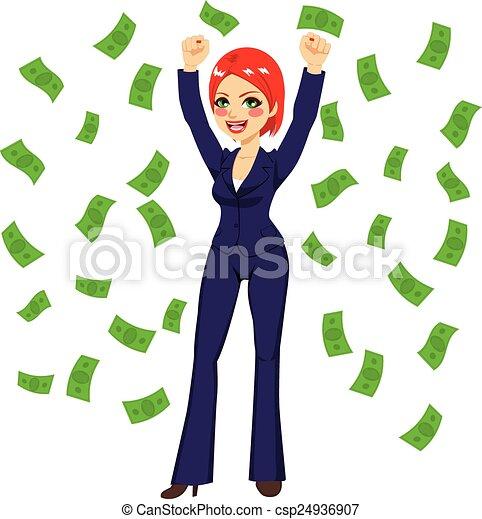 Pelirroja exitosa mujer de negocios - csp24936907