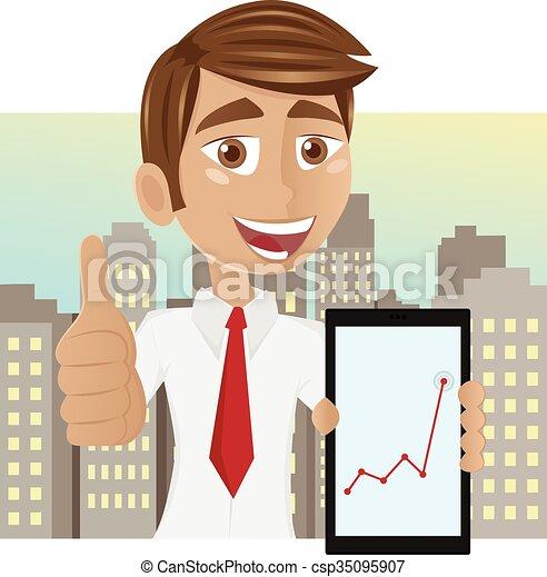 Un exitoso joven hombre de negocios - csp35095907