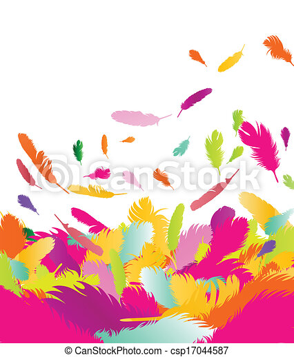 Exotic feather vector background - csp17044587