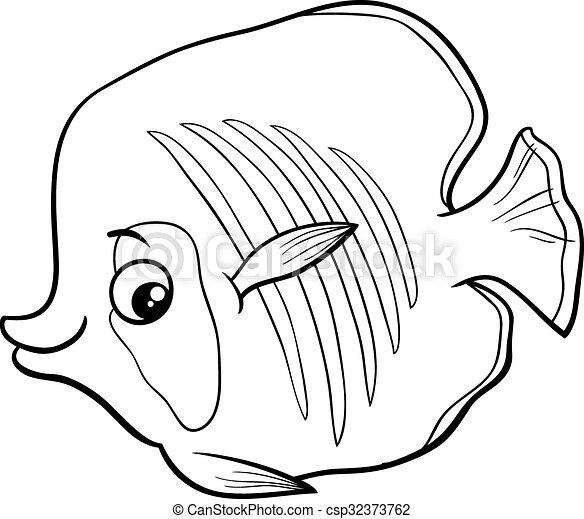 Exotic Fish Coloring Book