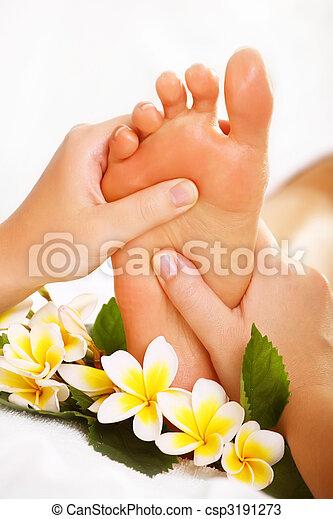 Exotic foot massage - csp3191273