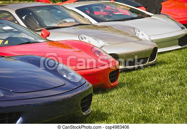 Exotic Italian Sports Car 4 - csp4983406