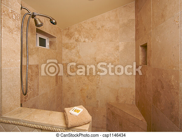 Exotic Marble Shower - csp1146434