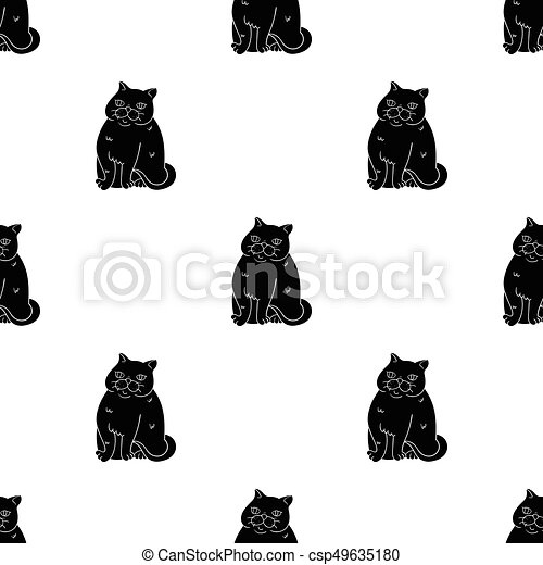Exotic Shorthair Icon In Black Style Isolated On White Background
