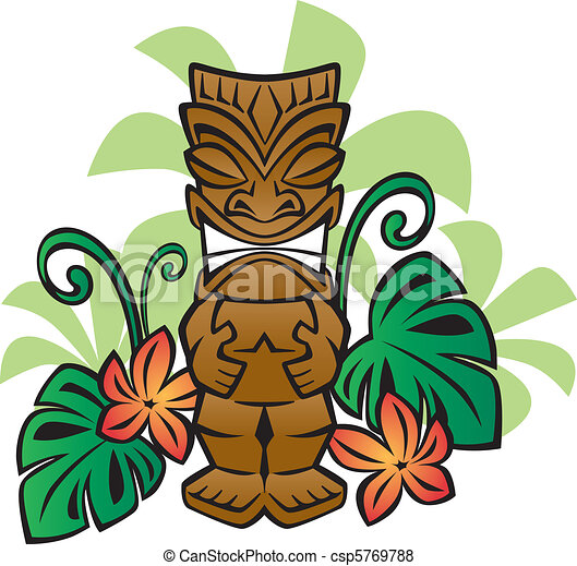 Exotic tiki god illustration of a tiki statue in the vector exotic tiki god csp5769788 stopboris Gallery