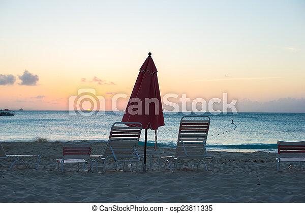 exoticas, tropicais, vista, praia, paraisos  - csp23811335