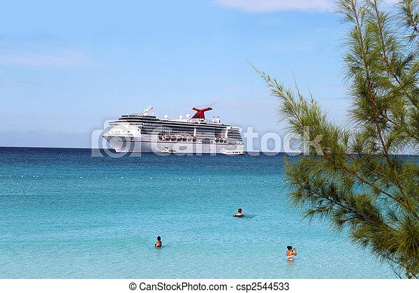 exotique, bateau, plage - csp2544533