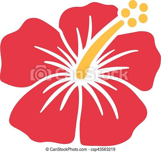 Exotique hibiscus fleur - Fleur d hibiscus dessin ...