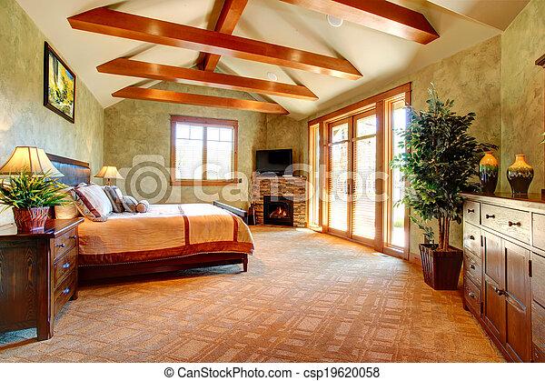 exotique, intérieur, chambre à coucher