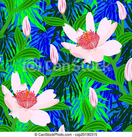 exotique, modèle, fleurs, jungle - csp20190315