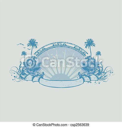 exotique, océan, côte - csp2563639