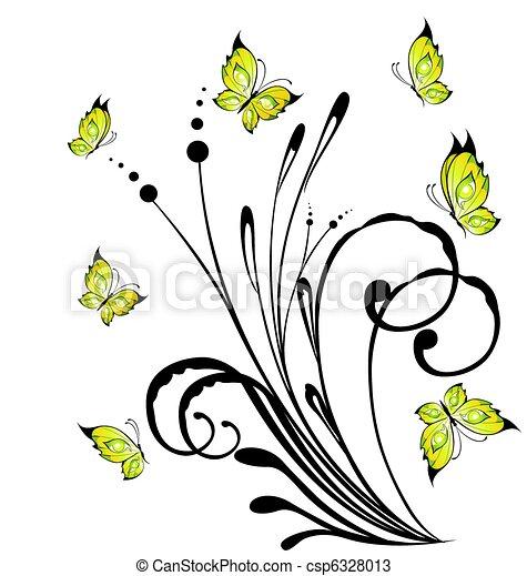 Exotique papillon fleurs - Photo de fleur a dessiner ...