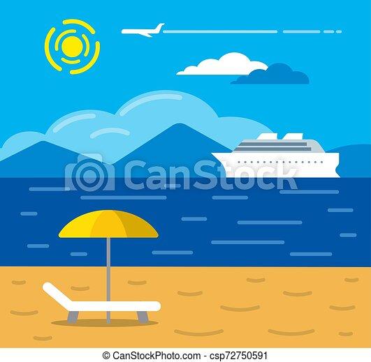 exotique, recours, plage - csp72750591
