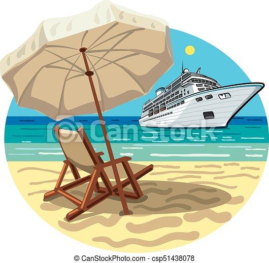 exotique, recours, plage - csp51438078