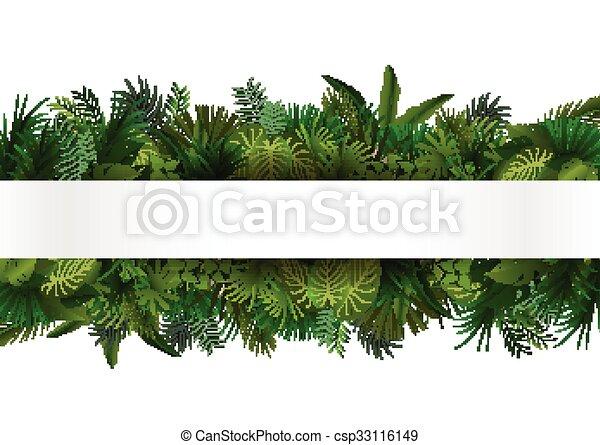 exotique, stylique floral, foliage. - csp33116149
