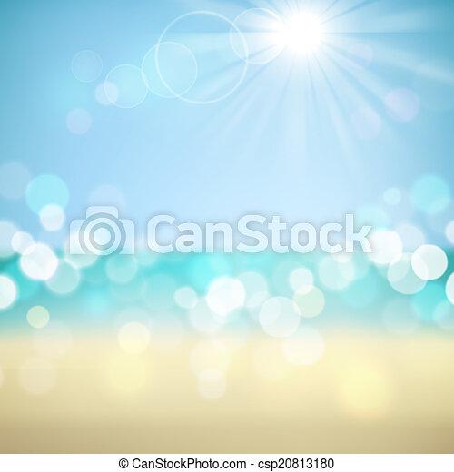 exotique, vacances été, plage, fond - csp20813180
