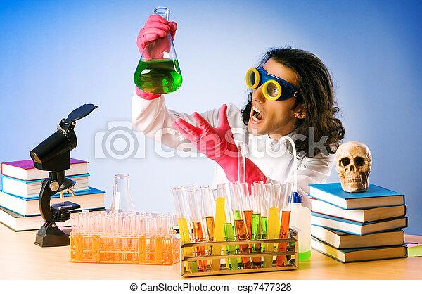 expérimenter, solutions, laboratoire, chimiste - csp7477328