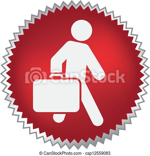 expedir, passageiro, em movimento, bagagem - csp12559083