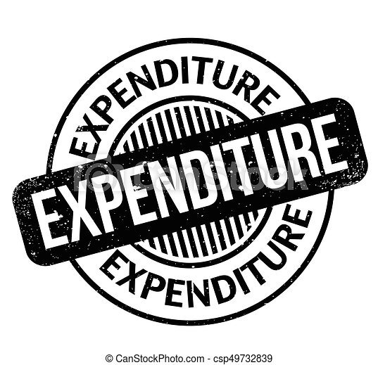 Expenditure rubber stamp - csp49732839