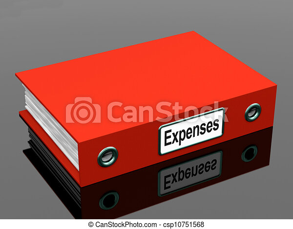 Expenses File Shows Accounting And Records - csp10751568