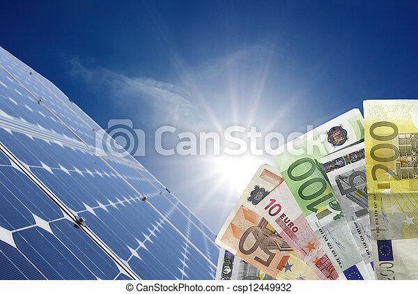expensive energy - csp12449932