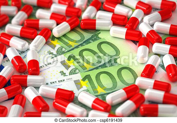 Expensive medication concept - csp6191439